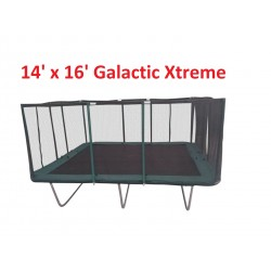 14x16 FT Heavy Duty Trampoline USA XHD by Galactic Xtreme with Enclosure Safety Combo