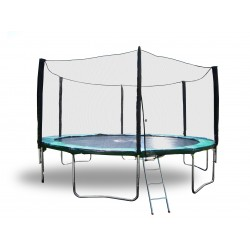 10 Foot Galactic Xtreme Outdoor Trampoline & Enclosure Safety Combo with Ladder For Sale