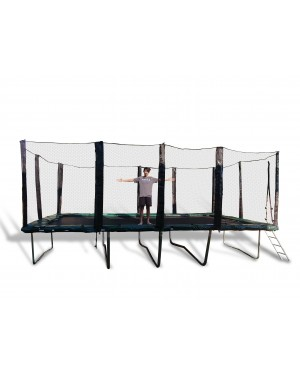 10'x20' EXTRA HEAVY DUTY Gymnastic Trampoline & Enclosure Combo with Reversible Spring Pad