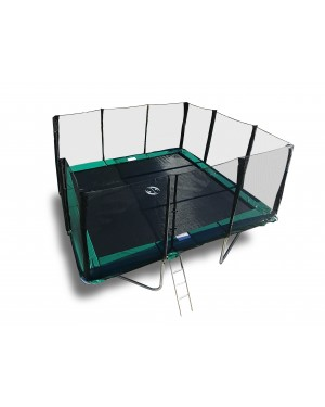 14'x16' Galactic Xtreme EXTRA HEAVY DUTY Trampoline & Enclosure Safety Combo with Ladder