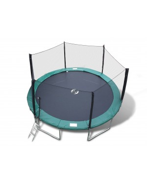 16' Galactic Xtreme Trampoline EXTRA HEAVY DUTY with Enclosure Safety and Ladder Combo