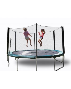 12' Galactic Xtreme Children Indoor Trampoline with Enclosure Safety & Ladder For Sale
