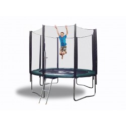 10 FT Galactic Xtreme EXTRA HEAVY DUTY BEST Kids Trampoline with Enclosure Safety and Ladder Combo