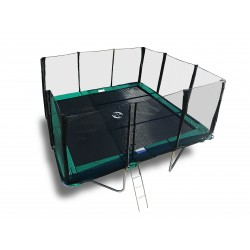 14'x16' Heavy Duty Trampoline USA XHD by Galactic Xtreme with Enclosure Safety Combo