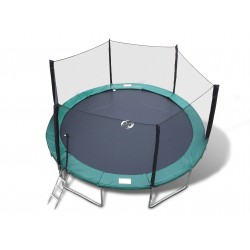 14' Galactic Xtreme Trampoline & Enclosure Safety Combo with Ladder
