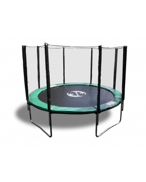 14' Galactic Xtreme Trampoline EXTRA HEAVY DUTY  with Enclosure Safety  and Ladder Combo