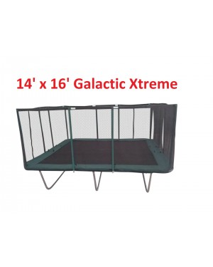 10x23 FT Best Trampoline USA XHD by Galactic Xtreme with Enclosure Safety Combo and Reversible Spring Pad