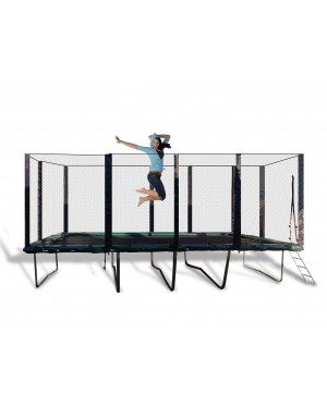 13'x23' Best Trampoline USA XHD by Galactic Xtreme with Enclosure Safety Combo and Reversible Spring Pad